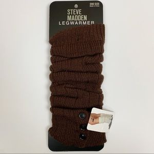 Steve Madden leg warmers in chocolate brown - NEW!